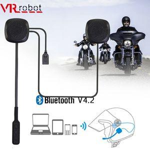 VR robot Мото Bluetooth Шлем Гарнитура Беспроводной Мотоцикл Handsfree Наушники с Голосовым Управлением Для GPS Музыка Мотоцикл Езда
