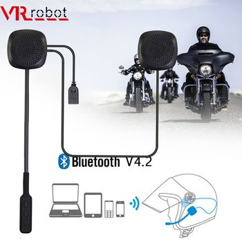 VR robot Motorcycle Bluetooth Helmet Headset Wireless Moto Handsfree Earphone Stereo Music Player with Voice Control For GPS motorcycle helmet headset bluetooth 5 0 edr headphones microphone wireless handsfree stereo earphone mp3 call control