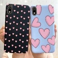 Funda a prueba de golpes para Huawei Honor 8, 8S, 8A, 8X, Funda blanda con letras del alfabeto, corazón de amor, mate, 2020