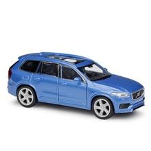цена на Welly 1:34-39 Original box 2015 XC90 SUV Blue Pull Back Car Diecast Car Model Toy Vehicle Car Model Models Kids Car