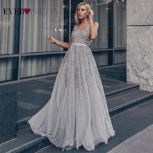 Robe Tulle Prom Jurken Lange Vrouwen Ooit Mooie Elegante Een Lijn V-hals Lace Applique Formele Wedding Party Dress Вечерние платья