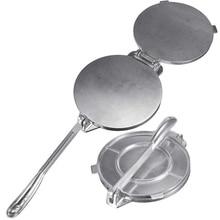 20cm 8inch Aluminium Tortilla Press Tortilla Maker with Foldable Handle Non-Stick Tortilla Pie Maker Press Pan for make Homemad