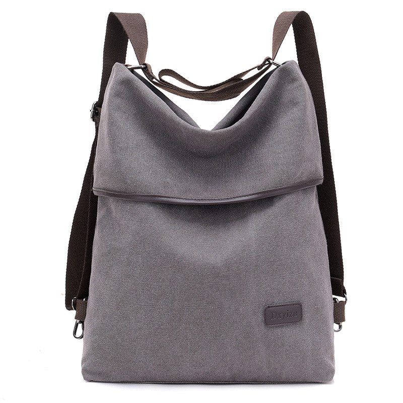 Canvas Vintage Women's Backpack Wild New Fashion Multifunctional Design Travel Backpacks Male School Bag Ladies Shoulder Bags
