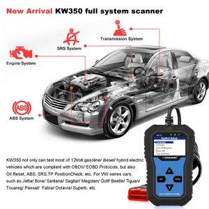 Image 3 - KONNWEI KW350 VAG arabalar için OBD2 aracı tam sistem teşhis aracı ABS hava yastığı sıfırlama yağ servis işık EPB sıfırlama fonksiyonu