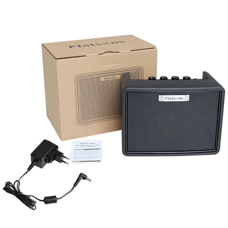 FGA-3 Mini Amplificateur de Guitare 6 piles AA Alimentation USB Portable Haut-Parleur Acoustique/Électrique Guitare Ukulélé