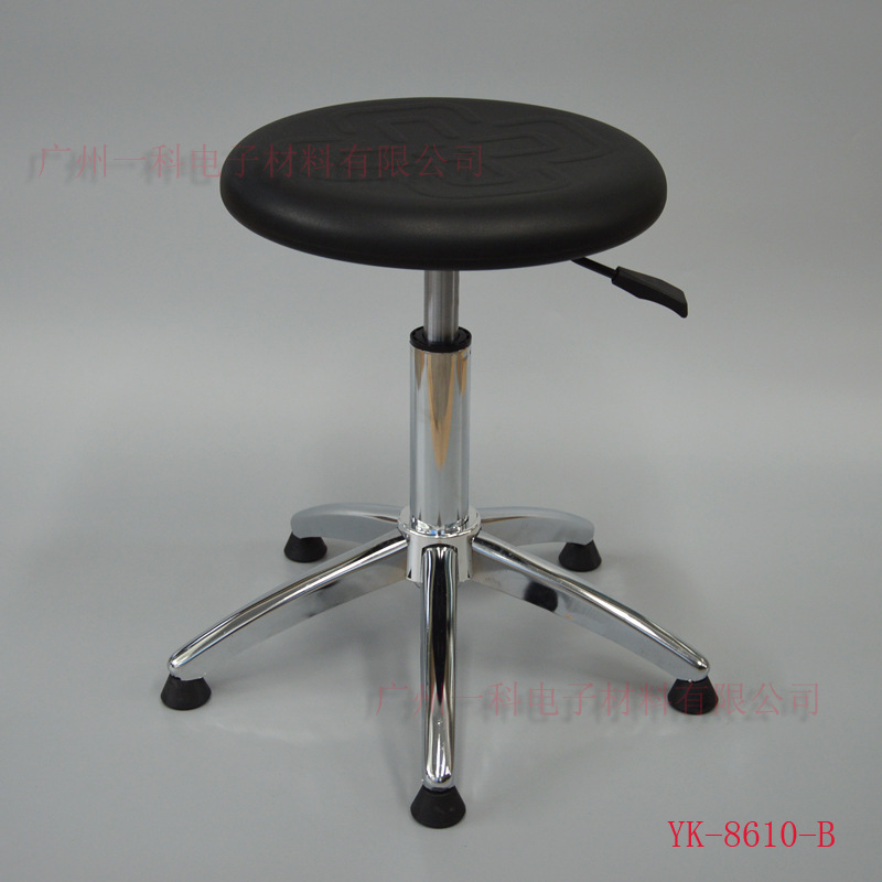 Anti-static PU Foaming Chinese Knot Height Adjustable Round Stool Clean Room Anti-static Height Adjustable Stool Factory Worksho