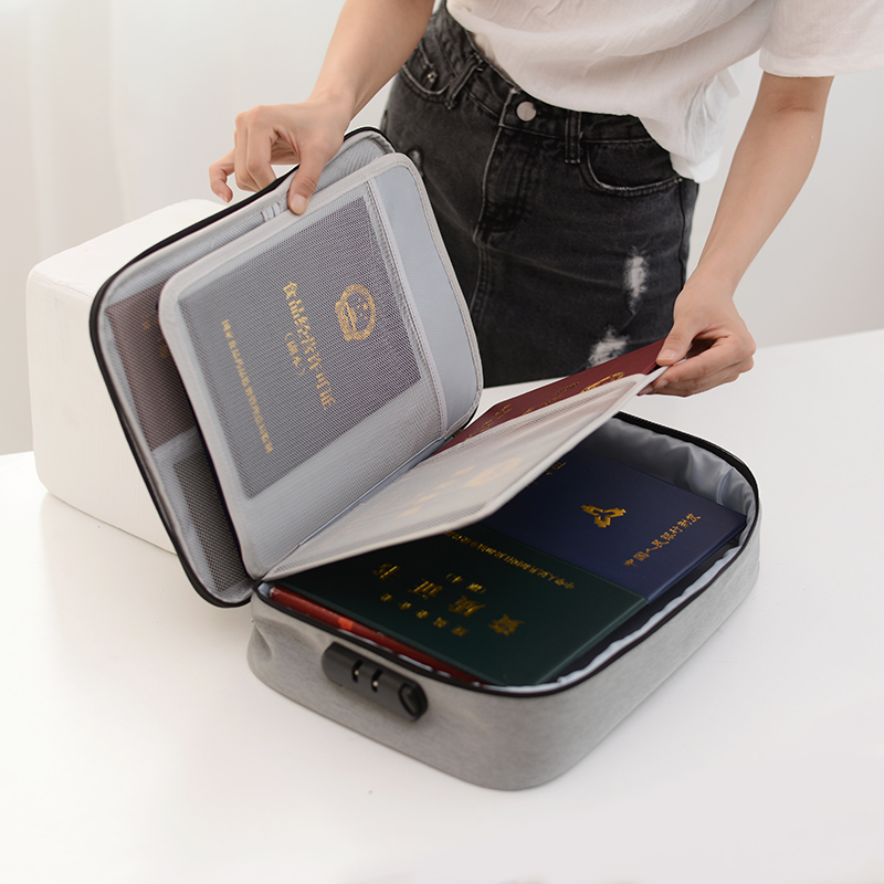 Bag Files Travel-Bags Document-Organizers Id-Holder Fabric-Certificate Waterproof Box title=