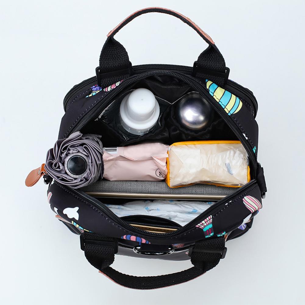 Multi-Function Mummy Bag Fashion Storage Waterproof Wear-Resistant Bag Diaper Bag Travel Nappy Backpack