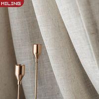 Cortina de tule marrom estilo japonês  cortina de linho e algodão para quarto  persianas para janelas