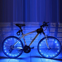 Ruedas de bicicleta, luz de Flash con 20LED, azul, lámpara con rayos #30