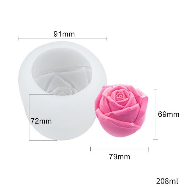 Ice Cube Form Silicone Rose Shape Icecream Mold 3D  Freezer Ice Cream Ball Maker