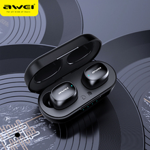 AWEI T13 TWS HiFi Sport Earbuds Bluetooth 5.0 True Wireless Stereo Headphone Fast Pairing Touch Sensor Siri Music Earphone
