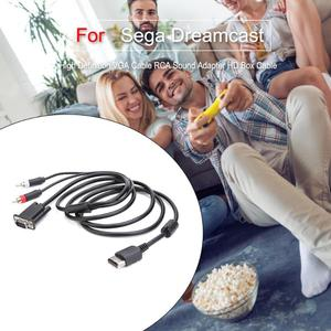 Image 4 - High Definition VGA Cable RCA Sound Adapter HD Box Cable for Sega Dreamcast Game Machine Game Audio Vedio Accessories
