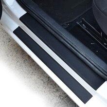 Защитная Наклейка для автомобиля, Накладка на порог, скребок, набор против царапин, 4 шт., нескользящая Замена