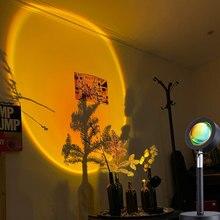 USB 5V rojo atardecer de proyección LED de luz de la noche de Sol para proyector lámpara para el hogar dormitorio tienda de café de las mujeres de la decoración regalo