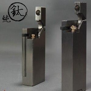 DXJ 4 вида 2 размера 6,3*3*1,5 см 90 г боковой ролик ручной работы из чистого титана керосиновая ретро антикварная подъемная зажигалка
