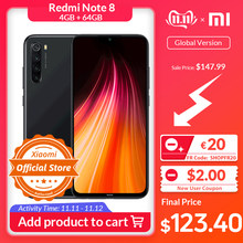 "Get €20 Off by Code ""ALISINGLESDAY2019"" Versión Global Xiaomi Redmi Note 8 4GB 64GB Smartphone 48MP Cámara Snapdragon 665 teléfono móvil 4000mAh 18W de carga rápida 6,3 ""FHD(China)"
