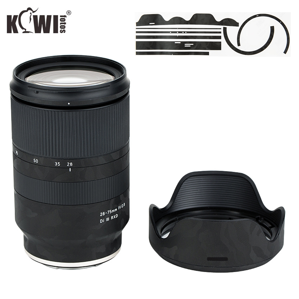 Anti-Scratch Lens Cover Film For Tamron 28-75mm F/2.8 Di III RXD A036 Lens & Lens Hood Anti-Slide Skin 3M Sticker Shadow Black