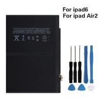 Bateria original para apple ipad ar 2 a1547 7340 mah bateria de substituição para ipad 6 ar 2 a1566 a1567 Bateria e energia extra p/ tablet     -