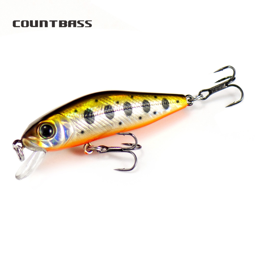 1pc Countbass Hard Bait 55mm Floating Minnow Wobblers Bass Walleye Crappie bait, Freshwater Fishing Lure Diving 0.8 1m|Fishing Lures| - AliExpress