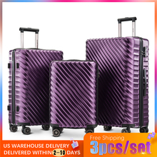 3pcs /set 6 Color Fashion Lightweight Hard ABS Rolling Luggage Spinner  Suitcases Wheel Business Carry On Trolley Travel Bag