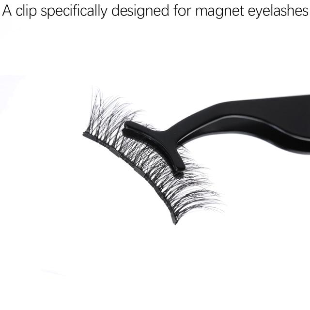 3Pairs of Glue-free Magnetic Eyelashes set Magnet Liquid Eyeliner Tweezer Set Waterproof Long Lasting Reusable Eyelash Extension 4