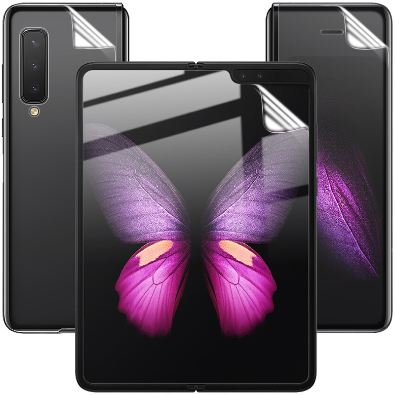 For Samsung Galaxy Fold Screen Protector IMAK Hydrogel III Phone Screen+ Inside Screen+Back TPU Film For Samsung Galaxy Fold
