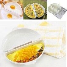 1 шт. Лучшая высокое качество полезные два яйца микроволновка омлет сковорода Microweavable плита омлет яйца Пароварка домашняя кухня