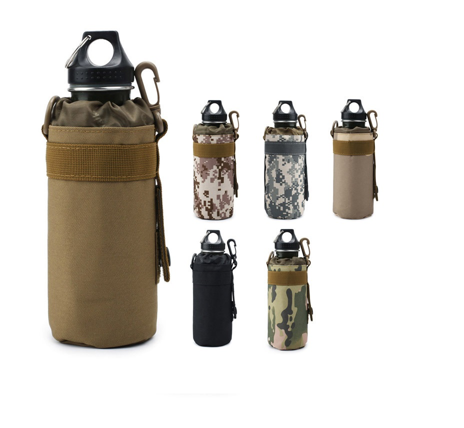 Naturebell 0608 500ml Alloy Bottle + Bag Set Tactical Bottle Bag Camouflage Bag Sports Bottle Bag With Bottle