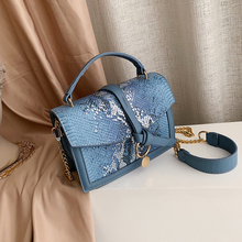 Casual Snake Small Flap Bag Women Handbag Retro Serpentine Chain Crossbody For Bags Famous Brand Clutch