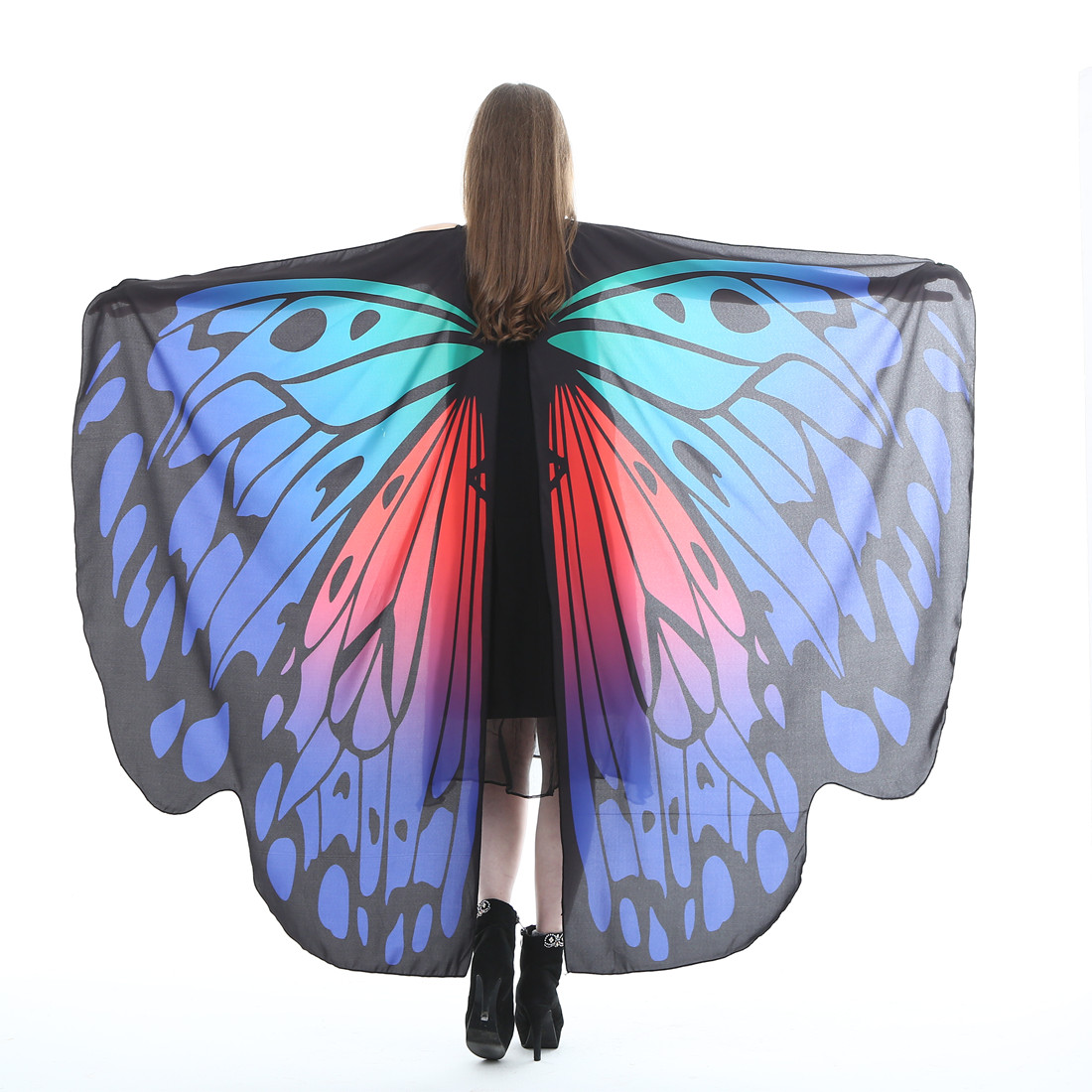 Butterfly Wings For Oriental Dances Vlinder Vleugels Alas Isis Wings Muti-color Polyester Moth Style