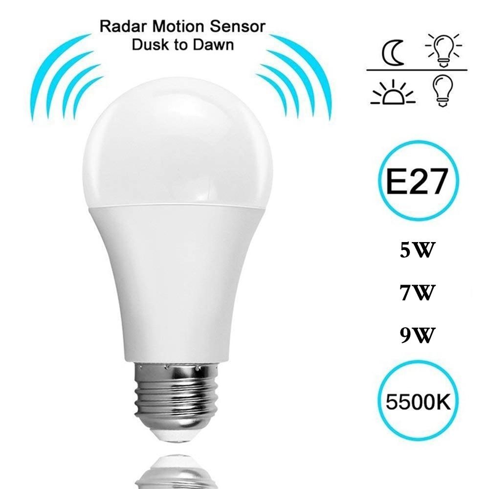 E27 радиолокационный датчик светодиодный лампочка звук и светильник лампа управления для лестницы лестница светильник ing ночной Светильник