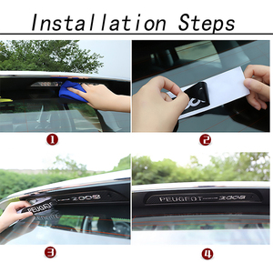 Image 5 - Car Stickers High Brake Light Decoration Black Carbon Fiber Decals For Nissan 2015 2016 2017 2018 Qashqai J11 Accessories