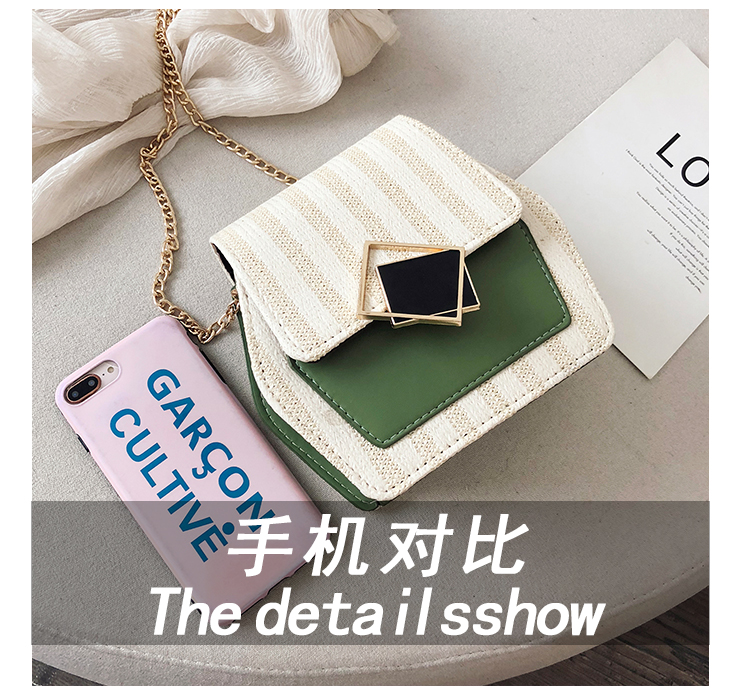 Mini Bag Girl 2019 New Korean Edition Fresh and Popular Fashion Chain PU Slant Bag Personal Bag Mobile Geometric Bag Clothes 73