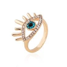 Elegant Blue Devil's Eye Fashion Lady's Ring Female Girl Jewelry Zircon Ring Adjustable Women's Jewelry Crystal Rings eye ring цена