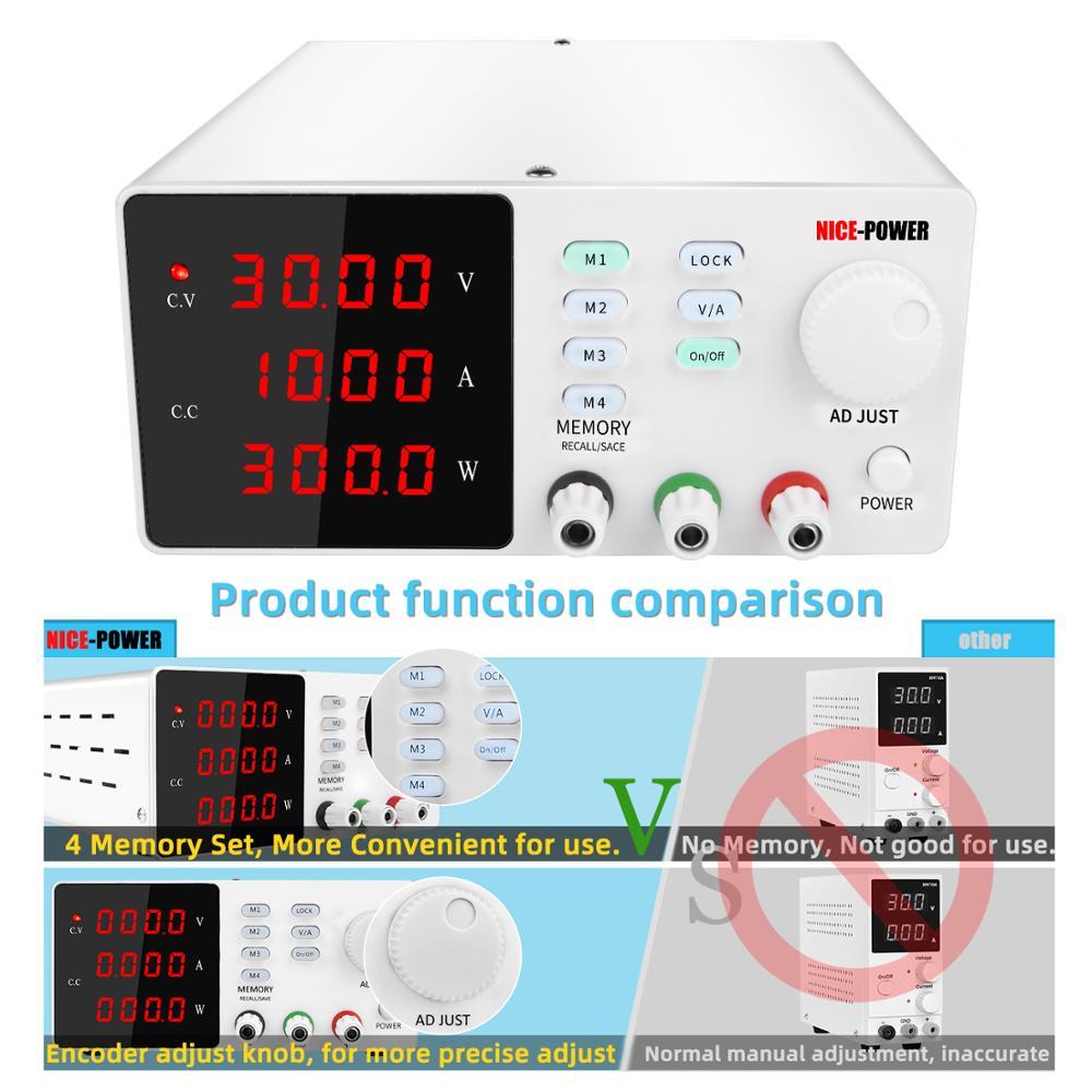 Programmable laboratory power feeding 30v 10a Lab Power supply unit for pc voltage regulator Precise adjustment Source 120V 3A-4