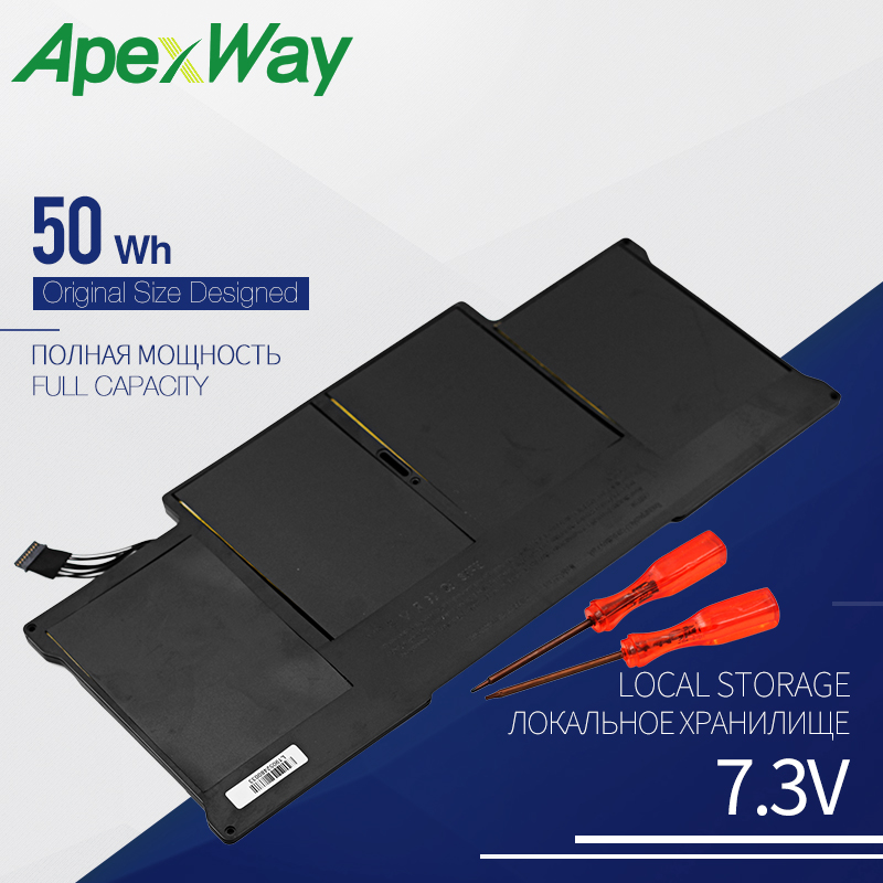 50WH Laptop battery for font b APPLE b font A1377 A1405 A1496 A1369 font b MacBook