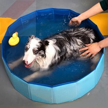 Dog Pool Pet Bath Summer Outdoor Portable Swimming Pools Indoor Wash Bathing Tub Foldable Collapsible Bathtub for Dogs Cats Kids