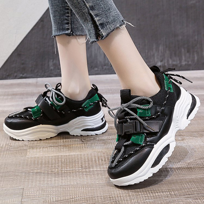 Chunky Sneakers Fashion Women Vulcanize Shoes Women Sneakers Women Flats Sneakers Shoes Platform Sneakers Female Chaussure Femme