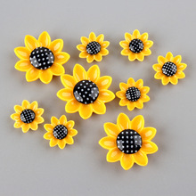 Resin Cabochon Bows-Accessories Phone-Decoration Sunflower Scrapbooking 20pcs for DIY