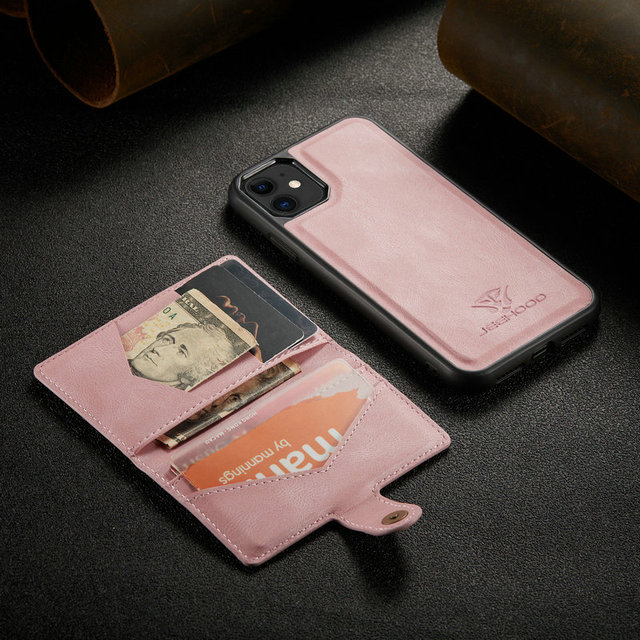 Suitable for IPhone 12 Multi Card Wallet  Magnetic Mobile Phone Case  3