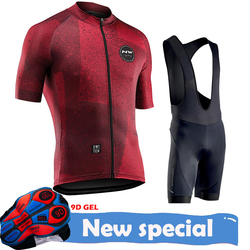 Northwave 2020 NW pro team Summer cycling jersey set bike clothing MTB ROAD Bike de retro road Bib Shorts Breathable 9D Gel Pad