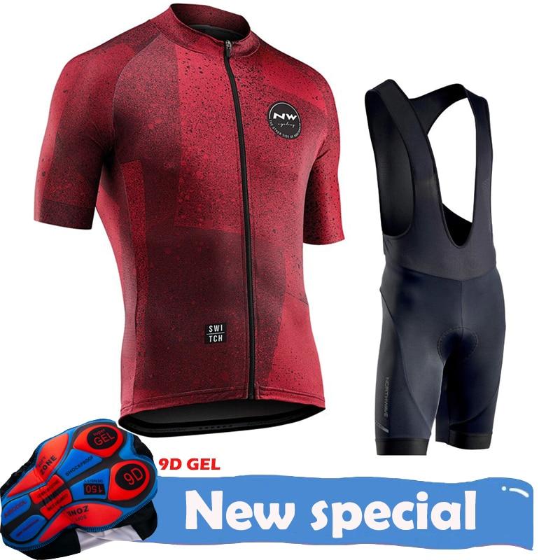 Northwave 2020 NW pro team lato kolarstwo zestaw koszulek odzież rowerowa MTB szosowe de retro szosowe spodenki na szelkach oddychająca 9D podkładka żelowa