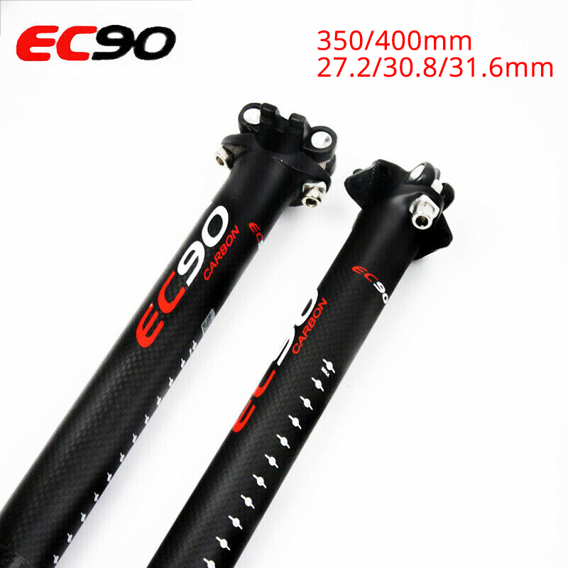 EC90 Carbon Fiber MTB Bike Seatpost 27.2//30.8//31.6* 350//400mm Aluminum Seatpost