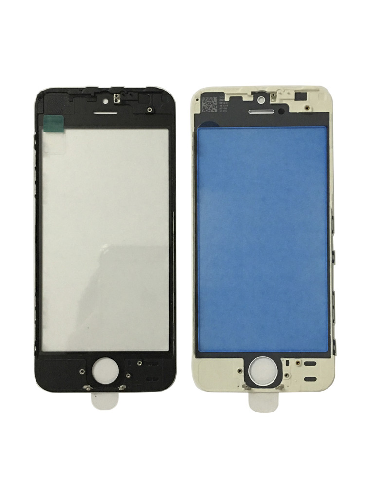 10pcs/lot Frame With Glass Lcd Screen Three In One Cover For IPhone5s 5g Glass+frame+oca Front Digitizer Screen