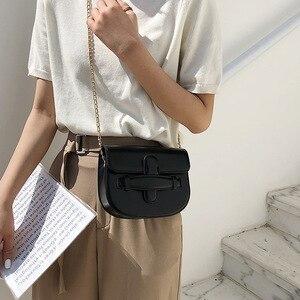 Image 2 - JIULIN 2019 新しい潮クロスベルト夏チェーンシングルショルダーバッグファッション傾斜小さな正方形のバッグ