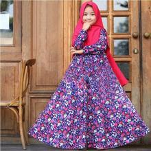 Robe Hijab Dress Abaya Jilbab Islamic Muslim Girls Prayer 2pieces-Set Kids Kaftan Arab