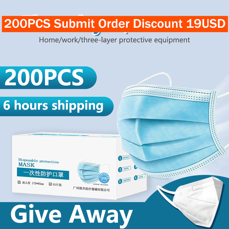 Anti-Pollution Med 3 Ical Mask Laye Dust Protection Masks Disposable Face Masks Elastic Ear Loop Disposable Dust Filter Mask