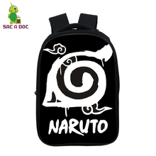 цена на 14.5 Inch Naruto Backpack Bag for School Nylon Waterproof Backpacks Travel Laptop Backpack Anime Bagpack Sac A Dos Customize