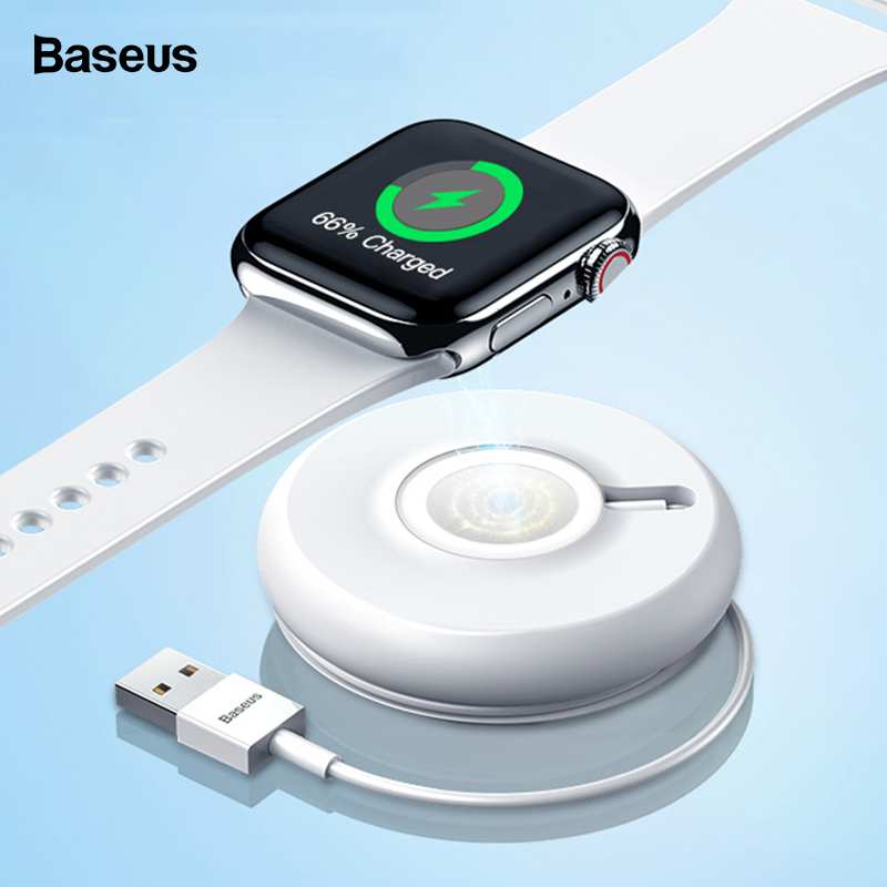 Baseus Qi Wireless Charger For Apple Watch 4 3 2 1 Series Magnetic USB Charger Fast Wireless Charging Pad For iWatch With Cable-in Wireless Chargers from Cellphones & Telecommunications